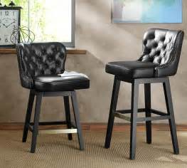 Pottery Barn Leather Bar Stools Caldwell Tufted Leather Swivel Barstool Pottery Barn