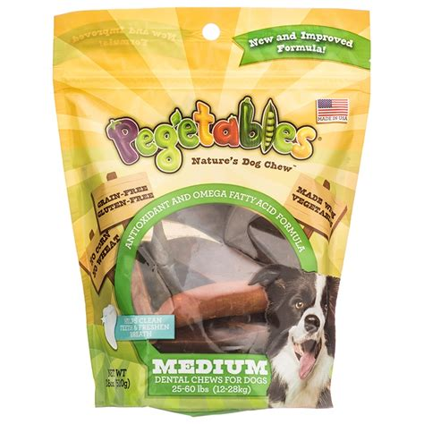puppy dental chews pegetables pegetables natures chew medium dental chews made in the usa treats