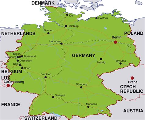 map of germany showing berlin map of major cities in germany berlin germany map travel