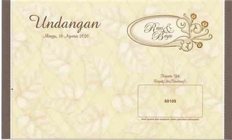 Undangan Pernikahan Blangko Murah undangan blangko kode erba 88109 souvenir undangan pernikahan unik dan murah