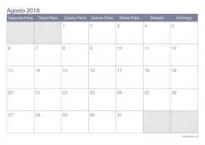 Calendario 2018 Agosto Calend 225 Agosto 2018 Para Imprimir Icalend 225 Pt