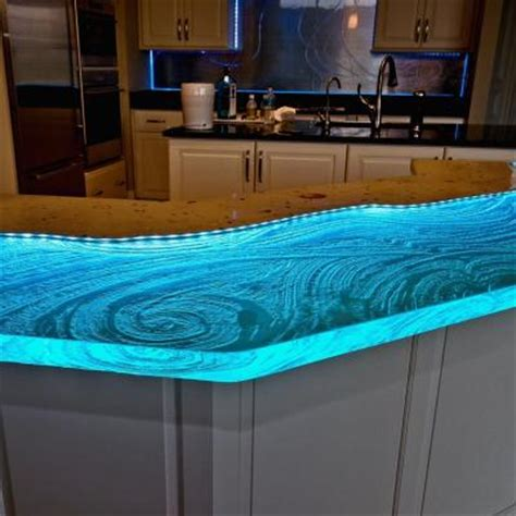 Kitchen Counter Lighting Ideas by Glass Amp Concrete Countertops