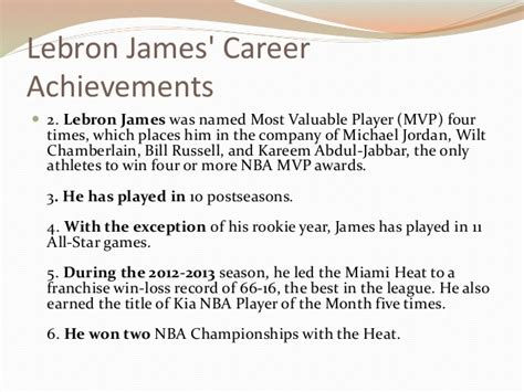 lebron career achievements