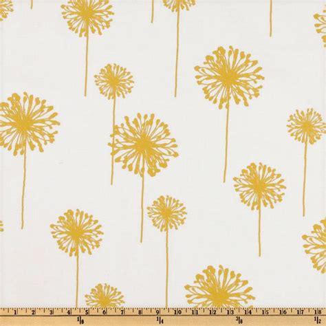 dandelion print curtains premier prints dandelion slub white yellow discount