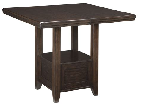 square counter height dining table haddigan dark brown rectangular extendable counter height