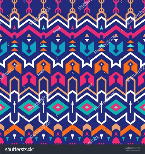 tribal pattern zigzag seamless stripes tribal pattern textile design stock
