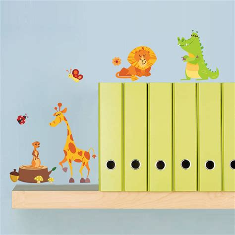 jungle animals wall stickers jungle animals wall stickers for rooms