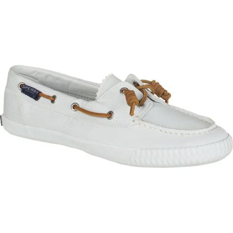 sperry white washed boat shoe sperry top sider sayel away washed shoe women s