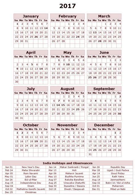 printable calendar 2018 for india free printable calendar 2018 india holidays calendar 2017