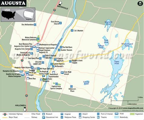 augusta usa map augusta map the capital of maine city map of augusta