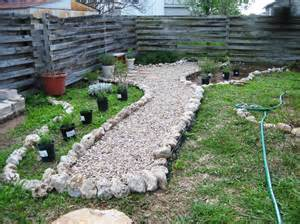 installing a gravel path and butterfly garden wip a