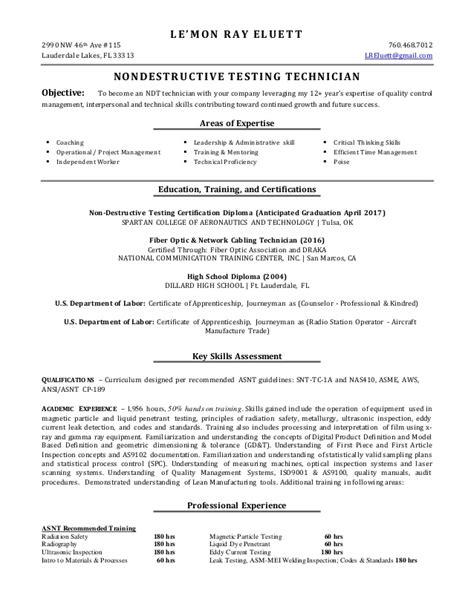 ndt resume resume ideas