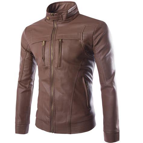 Luxurius Jacket brand clothing leather jacket coats winter warm motorcycle leather jacket s fashion