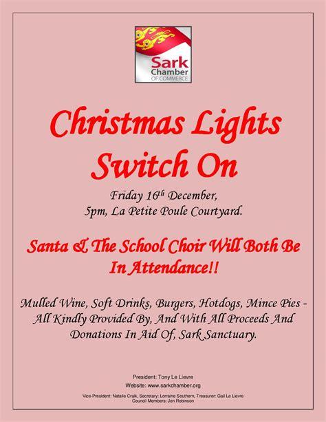 christmas lights switch on sark island tourism