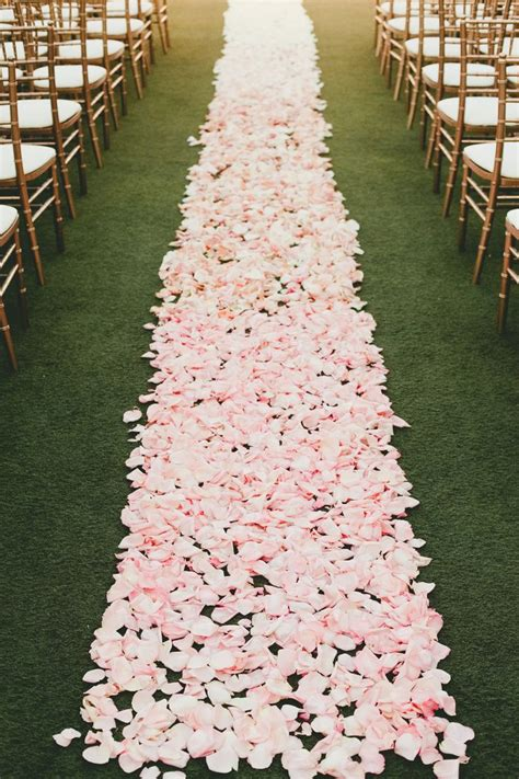 Wedding Aisle With Petals by Pink Blush Wedding Color Ideas Deerpearlflowers