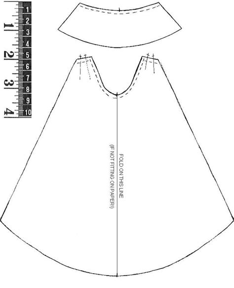 cape template collar cape and other sewing patterns for