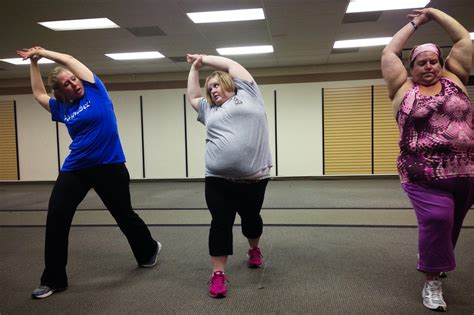 summer for obese people in these gyms nobody cares how you look in yoga pants