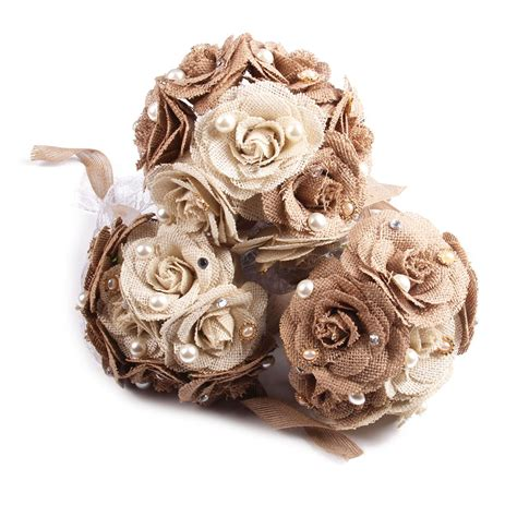 Wedding Bouquet Lace by Rustic Wedding Bouquet Burlap Flower Bouquet Lace And