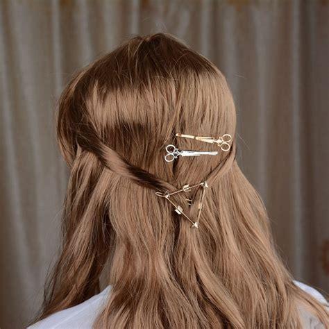 Jepit Rambut Flo 1 jepit rambut lucu model gunting silver jakartanotebook