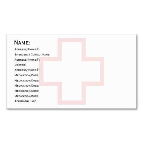 medical id card design 240 best medical health business cards images on pinterest