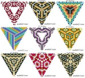 peyote triangles beaded pendants pinterest design