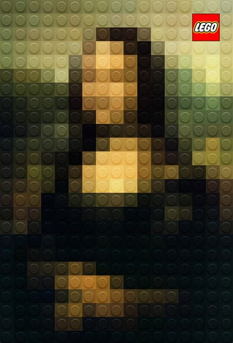 lego painting italian artist marco sodano pixelates paintings