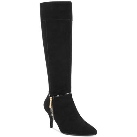 tracy harvard dress boots in black black suede lyst