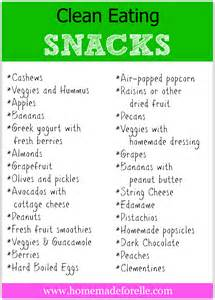 clean eating snacks homemade for elle