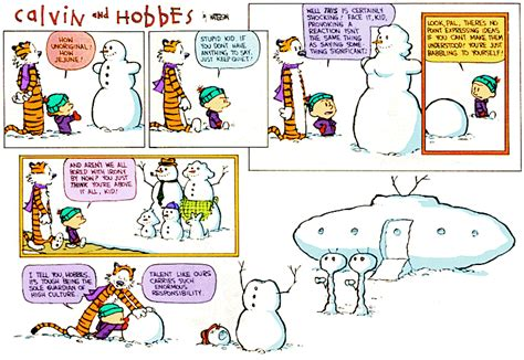 calvin and hobbes snowmen calvin and hobbs snow art