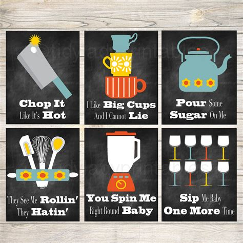 kitchen wall art funny mix it up just roll with it by funny kitchen wall art kitchen decor printable signs instant