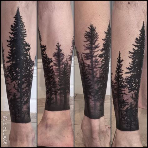 forest silhouette tattoo treeline silhouette gallery of images
