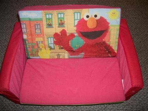 sesame street elmo flip open sofa couch bed sleeper