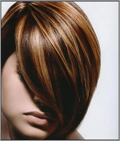 highlight hair color brown lowlights and highlight hair color with side