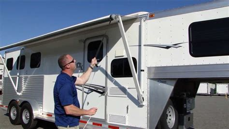 awning for trailer how to operate an awning on your trailer or rv youtube