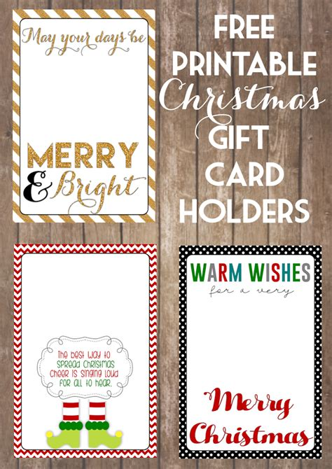 printable christmas gift card holders the girl creative