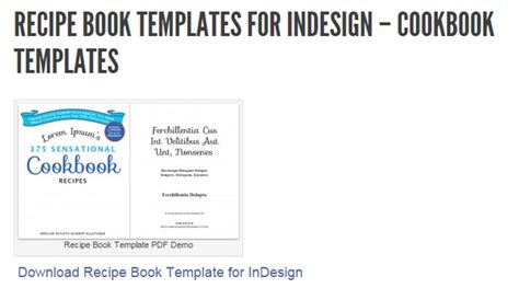 5 indesign cookbook template af templates