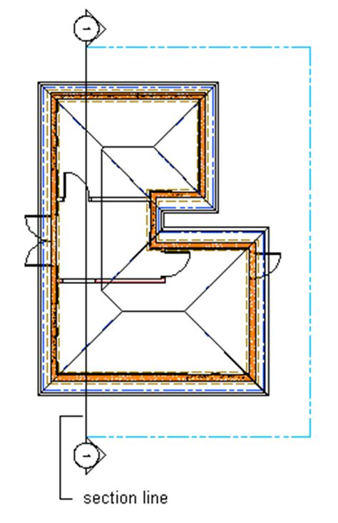 section cut line drawing and editing section lines