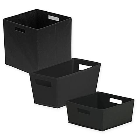 bed bath and beyond storage bins b in 174 fabric storage bin in black bed bath beyond