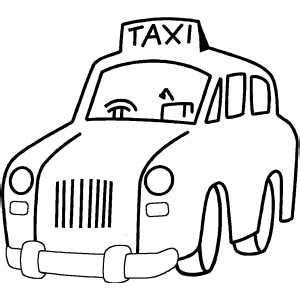 taxi car coloring page taxi coloring sheet