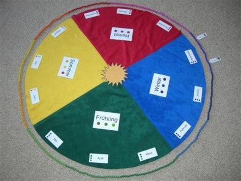 montessori teppich jahreskreis aus fleece montessori lernspielzeug ebay