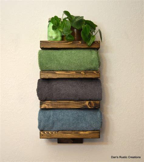 rustic bathroom towel racks four tier bathroom shelf rustic wood shelves and hand