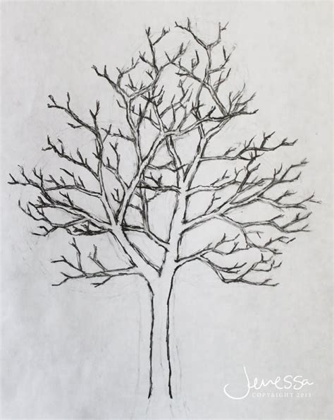 Y Tree Drawing by Jmariemi How To Draw A Tree