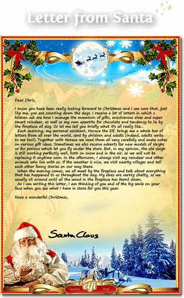 Free Santa Letters Download Your Personalized Letter From Santa Free Printable Letter From Santa Template
