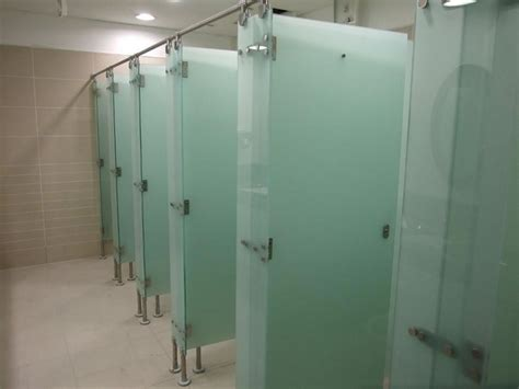 Glass Partition Walls For Home Glass Toilet Cubicles 001