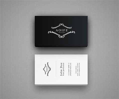 fashion business card templates free 28 best free black and white psd business card templates