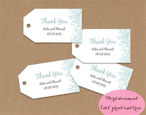 printable gift tags microsoft word gift tags wedding favors editable printable word doc aqua