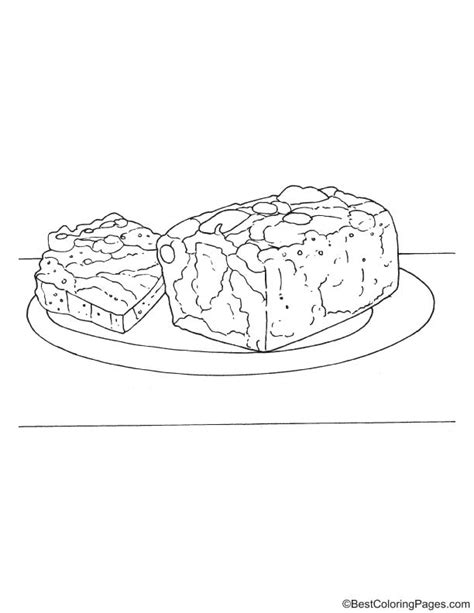 christmas cake coloring pages christmas fruit cake coloring page download free