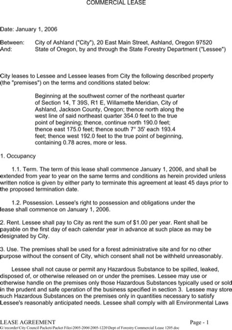 commercial rental contract template oregon rental agreement for free formtemplate