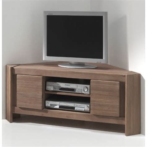 Meuble Tv Angle by Meuble Tv D Angle Acacia Massi Achat Vente Meuble Tv
