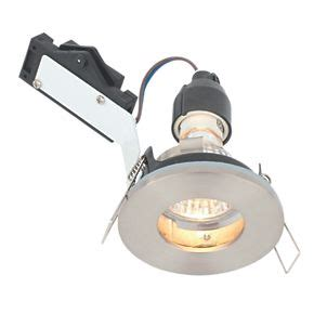 240v bathroom downlights lap fixed round mains voltage bathroom downlight brushed